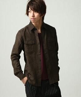 長袖襯衫BROWN