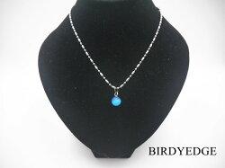 BIRDYEDGEE 戀人 海洋之星 透光 珠石 男女項鍊 情人 長短可訂製 鋼鈦 珠鍊 不退色 過敏