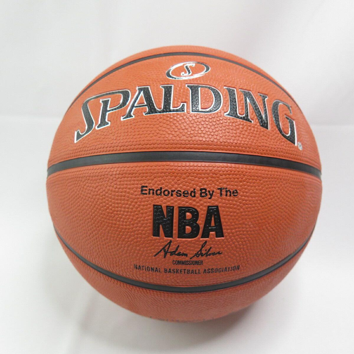 【滿額領券折$150】SPALDING 17 銀色NBA RUBBER 七號籃球 SPA83494 橘【iSport愛運動】
