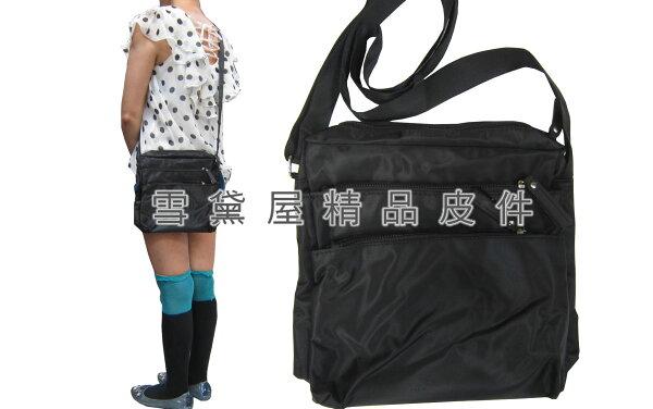 ~雪黛屋~ITALIDUCK斜側包小容量肩側多袋口設計輕便型中性款男女全齡適用防水尼龍布台灣製造隨身物品P714