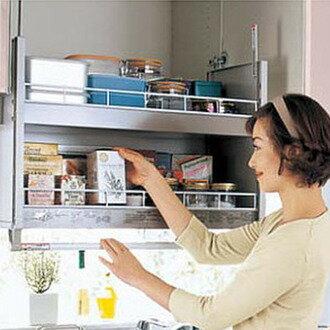 【現貨+預購】日本廚房用配件-【DHS75】櫃內手動升降器