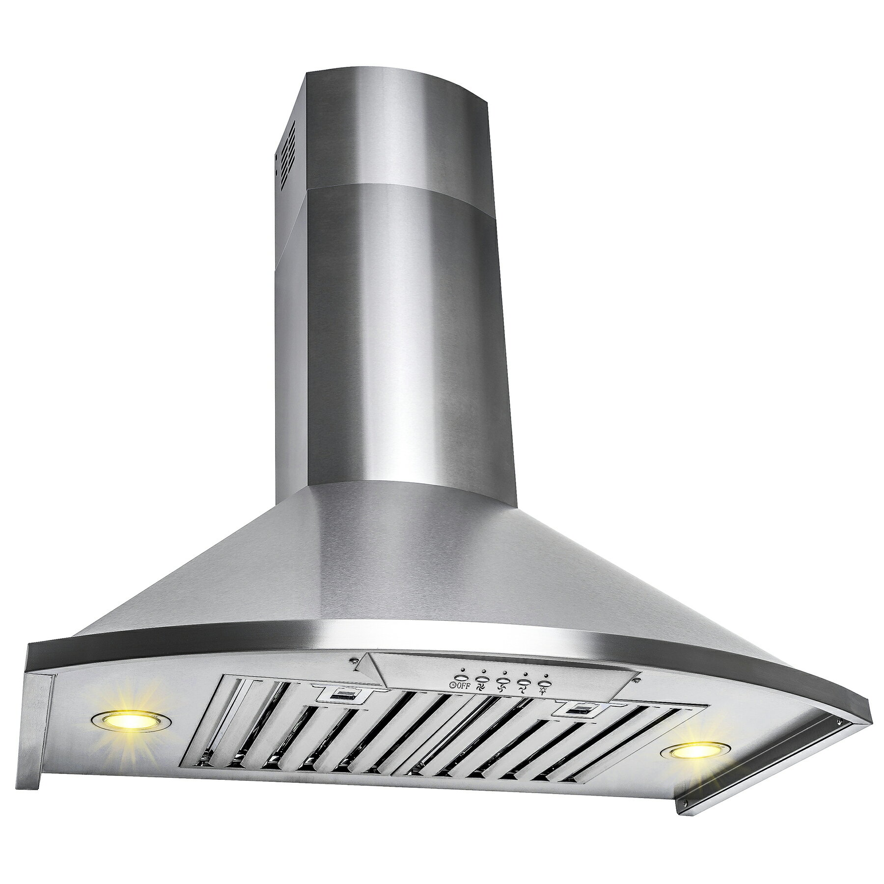 "AKDY 30"" Wall Mount Brushed Stainless Steel Push Button Control Kitchen Range Hood Cooking Vent Fan 2"