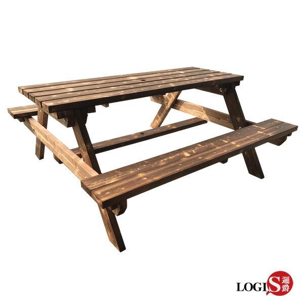 LOGIS-多用原木庭園桌椅啤酒桌戶外桌椅烤肉桌BBQ露營桌【12BEER】