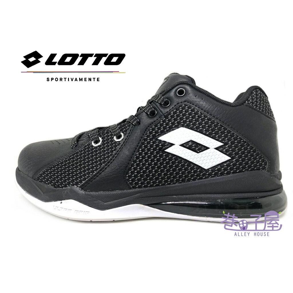 【巷子屋】義大利第一品牌-LOTTO樂得 男款Vortex 旋風乳膠避震氣墊籃球鞋 [5770] 黑 超值價$690