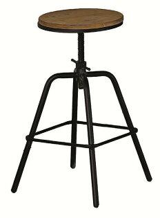 【石川家居】JF-489-14泰勒原木升降吧台椅(單只)(不含吧台桌及其他商品)台北到高雄搭配車趟免運