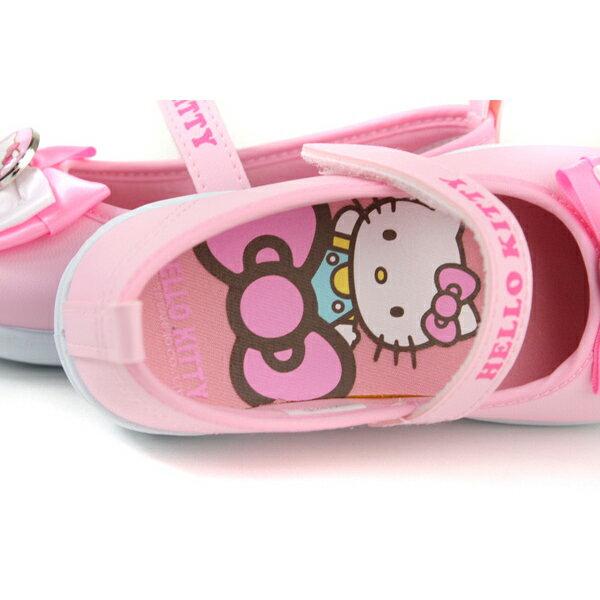Hello Kitty 凱蒂貓 娃娃鞋 皮質 粉紅色 中童 童鞋 718742 no774 4
