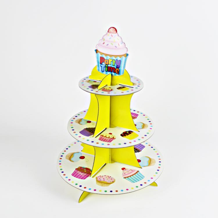 三層紙蛋糕架