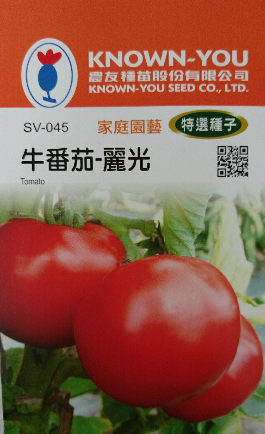 """【尋花趣】牛番茄-麗光 農友種苗 """"特選蔬果種子"""" 每包約20粒 保證新鮮種子"""