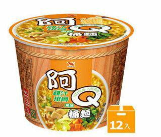 阿Q桶麵雞汁排骨風味(12碗箱)【合迷雅好物商城】