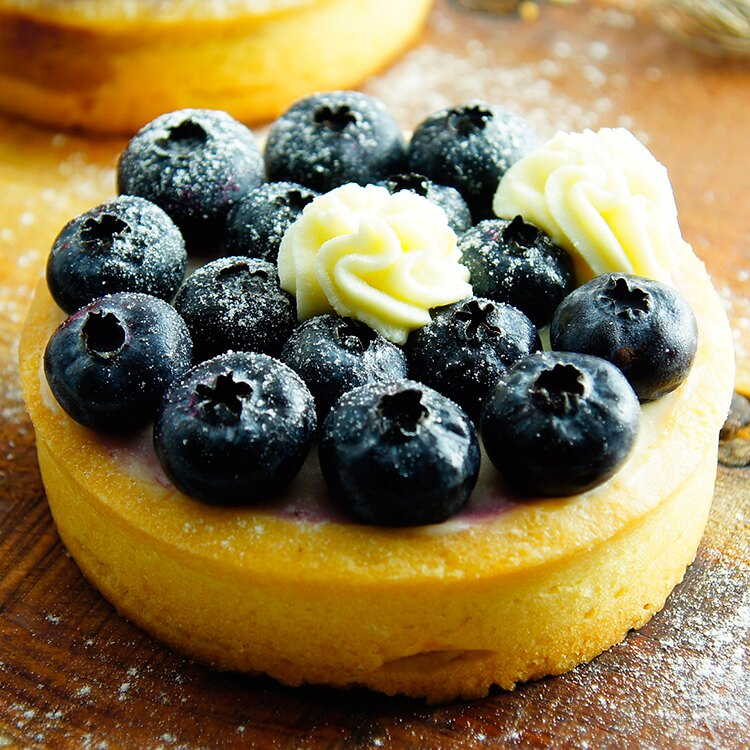 【八號人手作甜點工作室】君度生乳酪藍莓塔 三吋4入