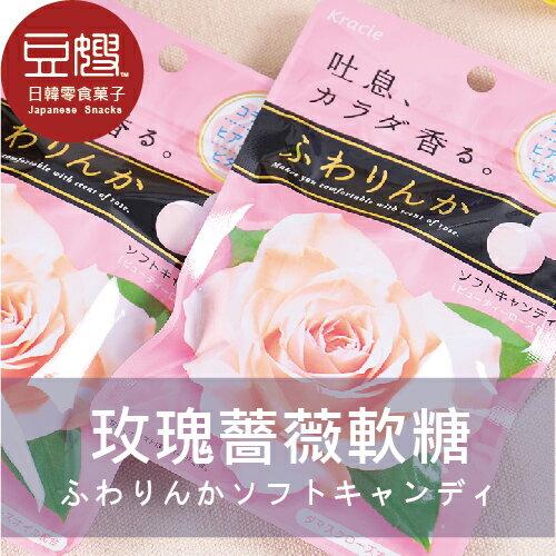 【豆嫂】日本 KRACIE玫瑰糖 玫瑰薔薇花香軟糖(玫瑰/櫻花)★5月宅配$499免運★
