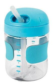 美國 OXO 兒童喝水訓練杯 吸管喝水杯 200ml / 7oz 藍色 *夏日微風*
