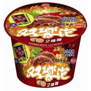 味丹 雙響泡 哈燒鮮辣牛肉湯麵 109g