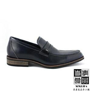 寺孝良品 韓式雅痞 經典紳士樂福鞋 藍 5