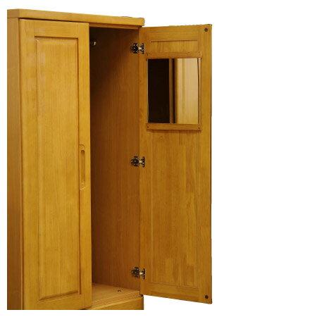 ◎(OUTLET)衣櫥 衣櫃 OUKA 80WR LBR 福利品 NITORI宜得利家居 5