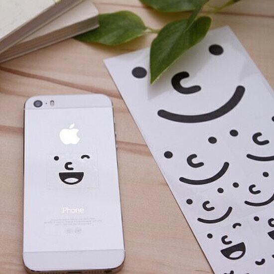 ♚MY COLOR♚表情符號DIY貼紙(3入) 韓國 表情 笑臉 日記 透明 學生 文具 卡片 防水 閨蜜【K16-1】