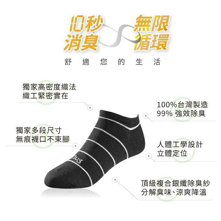 【sNug】複合銀纖維除臭船襪 / 針對嚴重腳臭 / 乾爽舒適 / 腳臭剋星 / 腳丫不癢 / 中筒襪 / 短襪