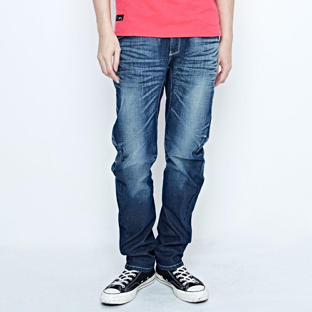 EDWIN E-FUNCTION 袋蓋窄直筒褲-男款 中古藍 SLIM 1