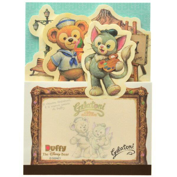 預購 東京迪士尼海洋 Gelatoni  畫筆貓 便條紙