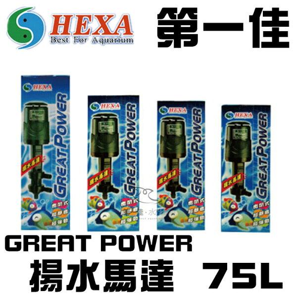 [第一佳水族寵物]台灣海薩HEXAGREATPOWER揚水馬達75L藍色免運