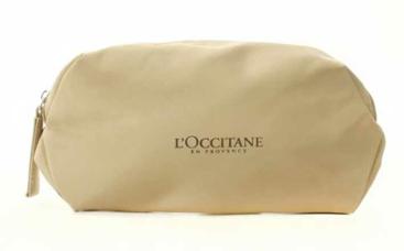 歐舒丹L`occitane 輕度防水純色立體造型有內襯好質感化妝包收納包