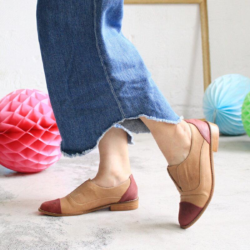 【C2-17740L】新色簡約真皮復古紳士鞋_Shoes Party 3