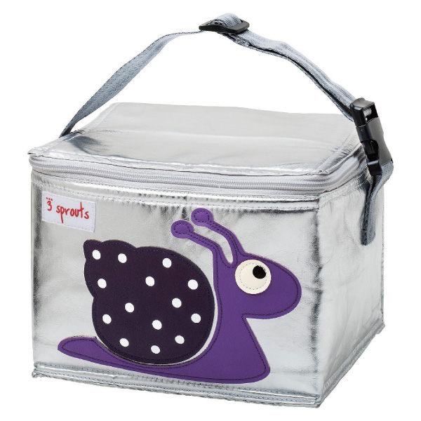 【原廠公司貨】加拿大3 Sprouts 午餐袋/母乳保冷/保溫袋-小蝸牛
