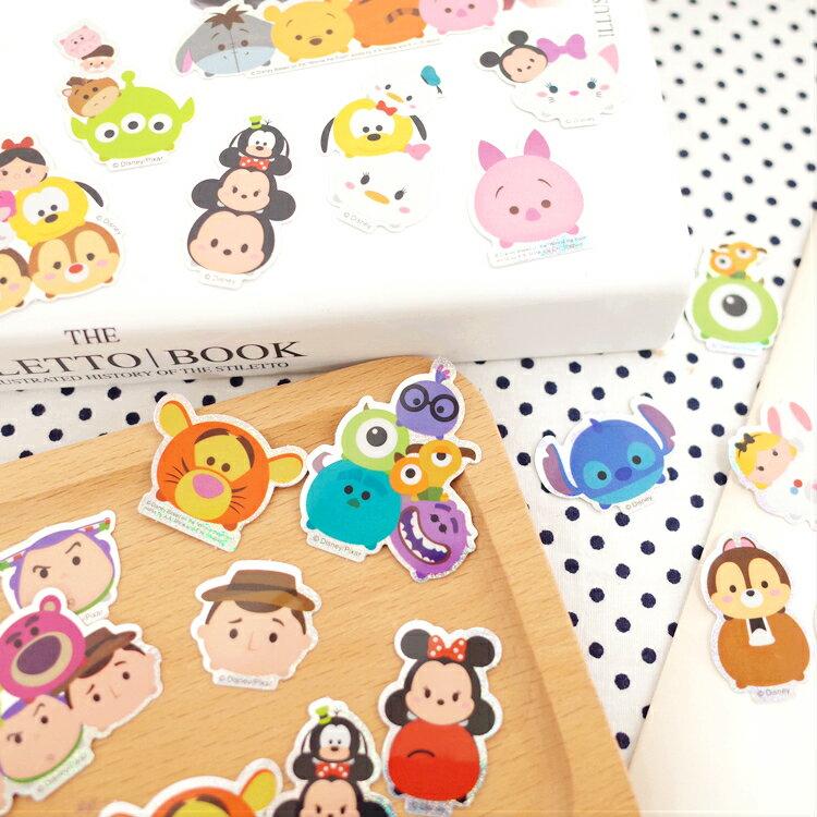 PGS7 迪士尼系列商品 - Tsum Tsum 閃亮 貼紙包 (50入) 裝飾 貼紙 手帳 日記【SHE7114】