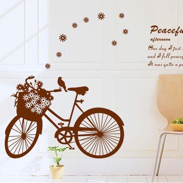 BO雜貨【YV0511】創意個性時尚 郊遊自行車 居家裝潢佈置 壁貼