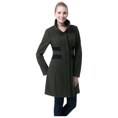"BGSD Women's ""Prim"" Missy & Plus Size Colorblock Wool Blend Over Coat f4a3ed2dd8a3217780eb312b0fc5c5a3"