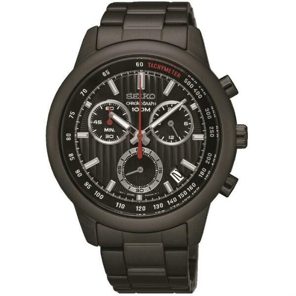 SeikoCS系列8T68-00A0SD(SSB219P1)競速度計時腕錶黑面42mm
