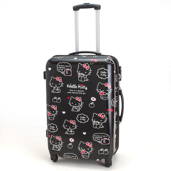 <br/><br/>  KITTY行李箱旅行箱登機箱24吋大容量黑185858<br/><br/>
