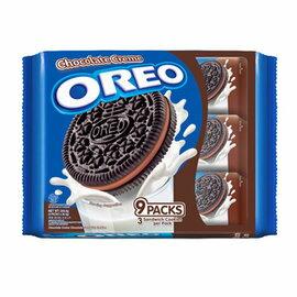 OREO奧利奧巧克力夾心三明治餅乾隨手包(29.4g*9包)/2組【合迷雅好物商城】