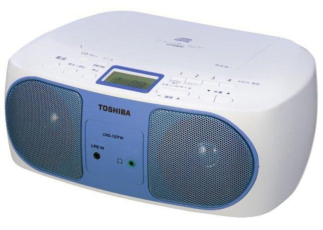 TOSHIBA CD/line in 手提音響 TY-CRS120TW