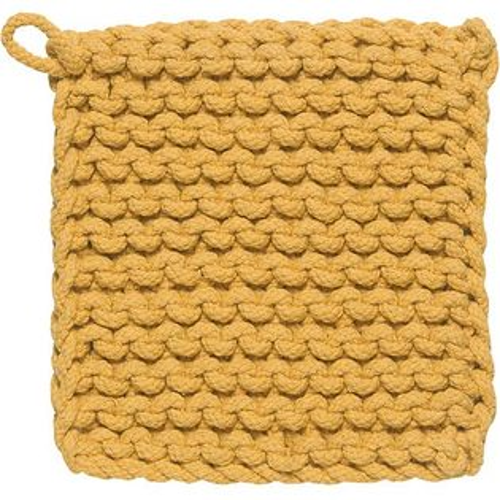 《DANICA》鉤針編織隔熱墊(黃)