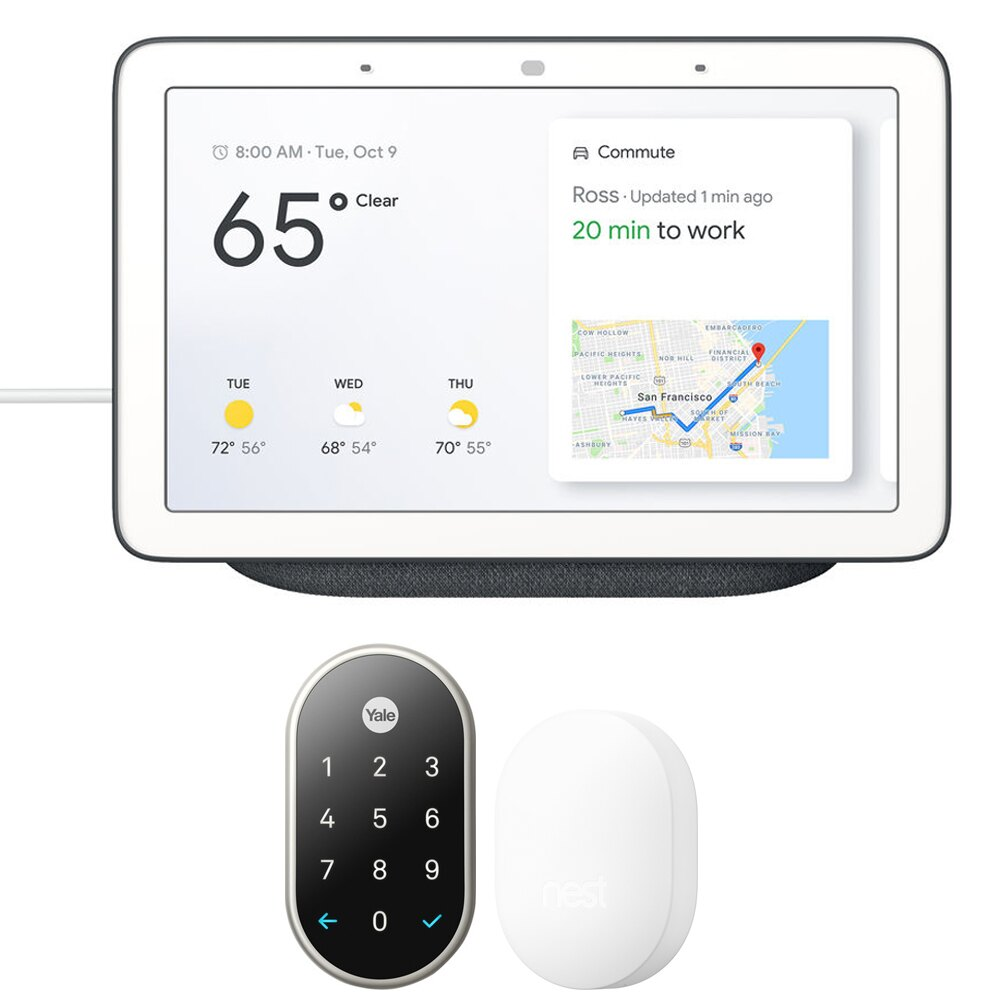 Nest x Yale Lock with Nest Connect + Google Home Hub