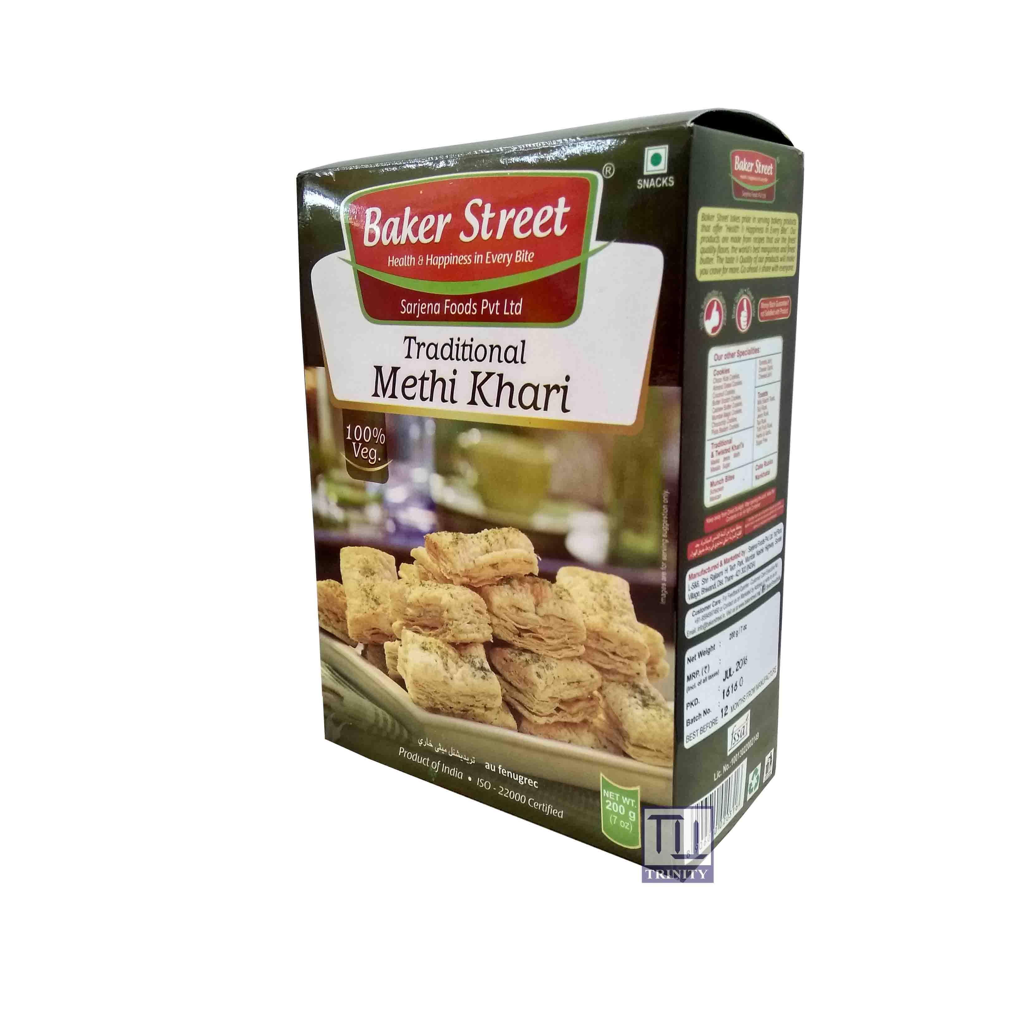 Baker Street Traditional Methi Khari  印度千層烘焙酥(葫蘆巴口味)