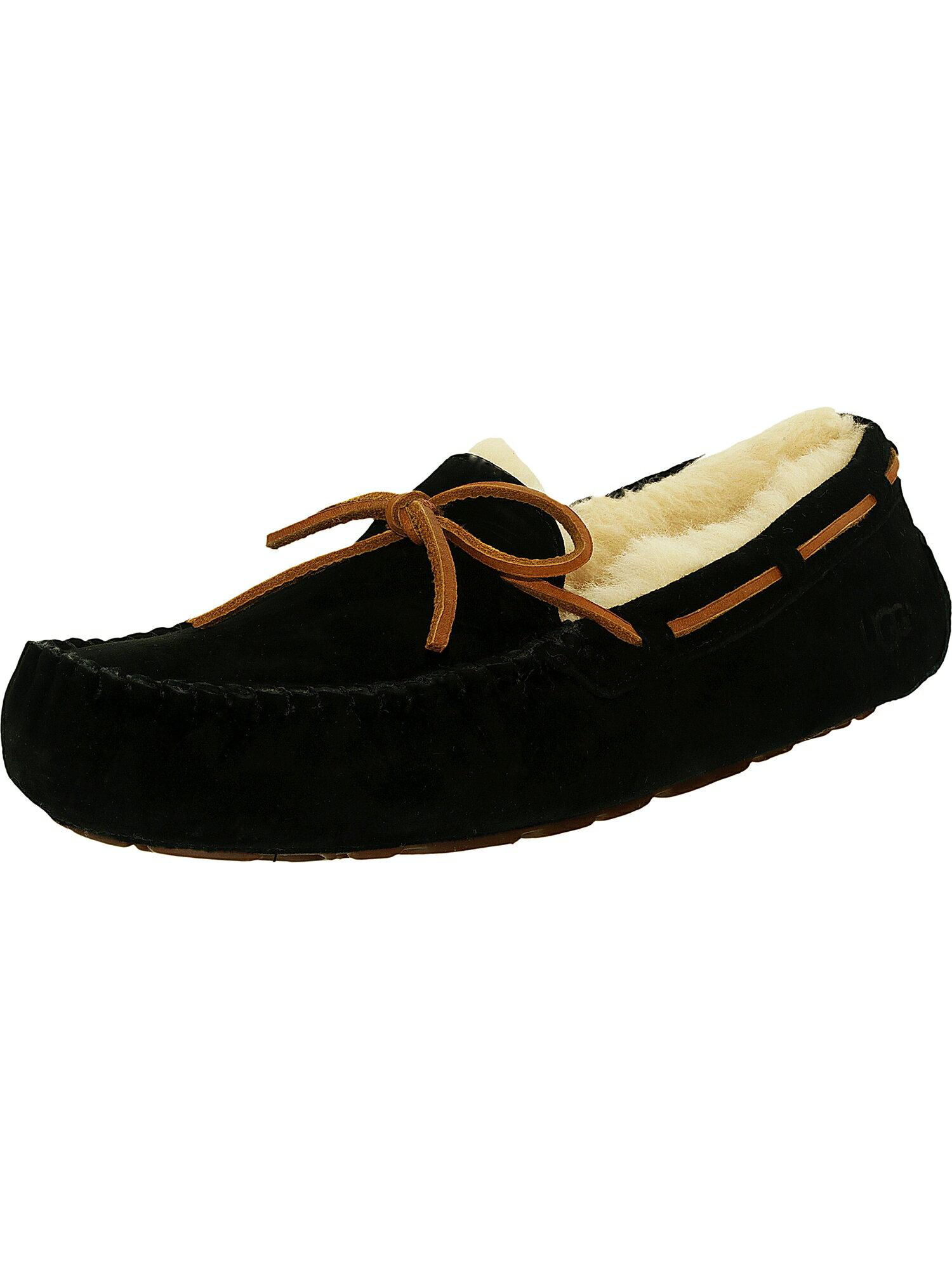 46a12b61aa5 Ugg Women's Dakota Leather Black Ankle-High Suede Slipper