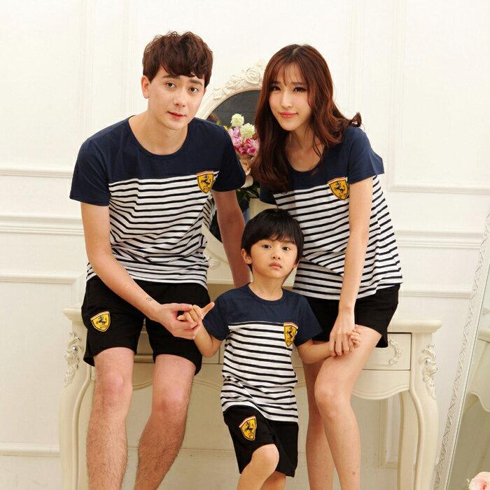 ☆糖衣子輕鬆購【C1603】 韓版休閒條紋親子裝T恤上衣-寶寶