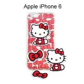 Hello Kitty 拭鏡貼透明軟殼 [蝴蝶紅] iPhone 6 4.7吋【三麗鷗正版授權】