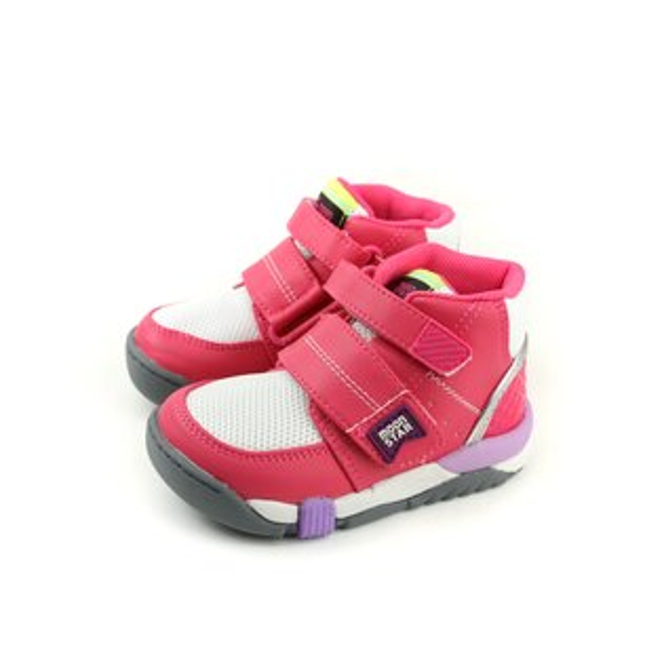 HUMAN PEACE:MoonStar運動鞋慢跑鞋矯正鞋魔鬼氈桃紅色中童童鞋CRC21404no135
