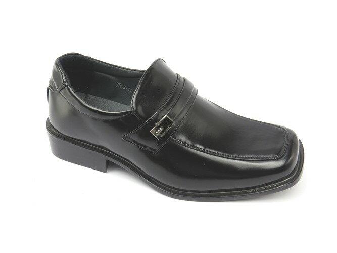 *男皮鞋* 時尚舒適方頭排壓氣墊皮鞋77-7823(黑)☆【彩虹屋】☆