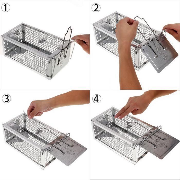 One Door Sensitive Pedal Mousetrap Cage 5