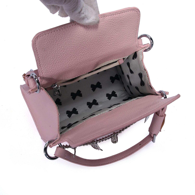 【BEIBAOBAO】東區時尚質感真皮手提包(名媛粉 共二色) 9