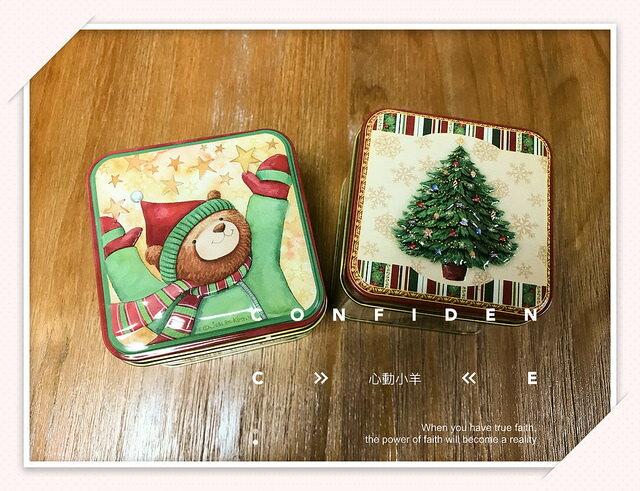 心動小羊^^聖誕糖果罐、巧克力、餅乾盒、花茶茶葉、蠟燭盒禮品、婚禮小物面160公克霜罐方形與圓形可以任選