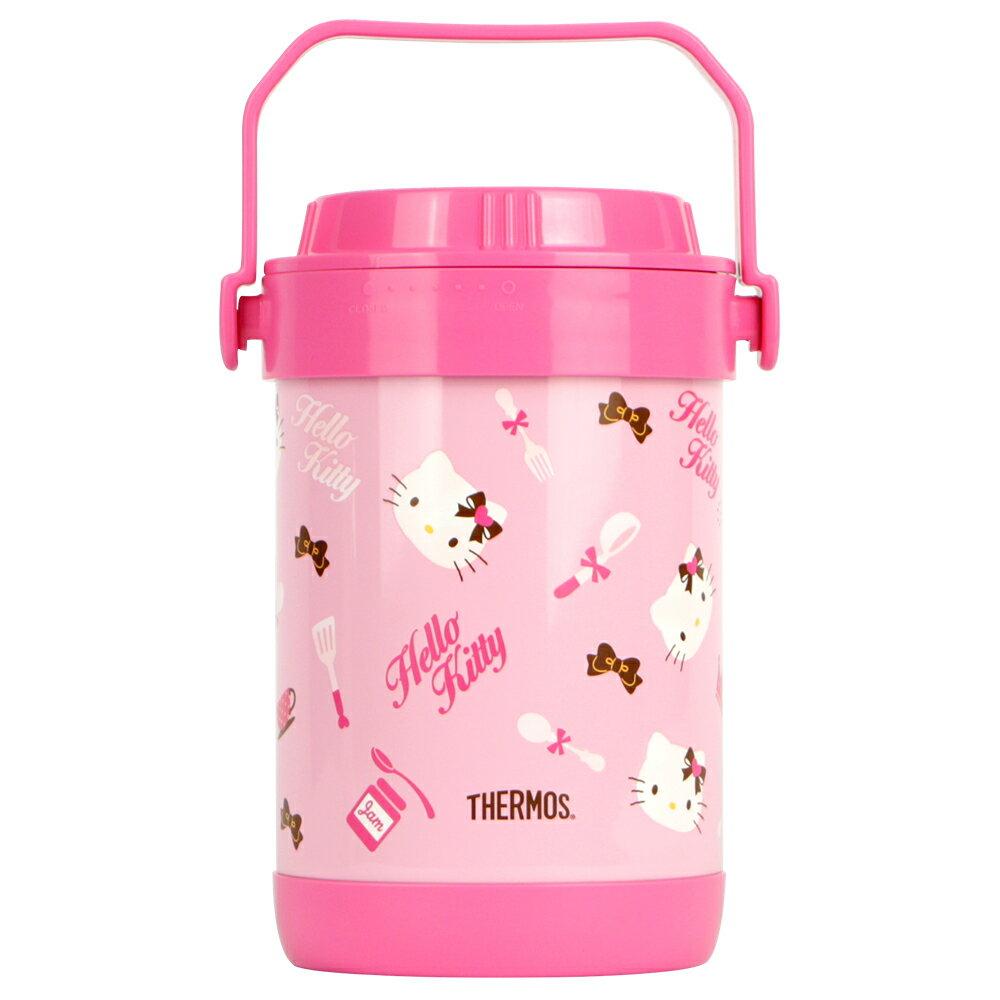 THERMOS膳魔師 Hello Kitty不鏽鋼真空燜燒鍋1.5L【RPF-20-PK】(MF0387)
