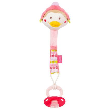 【買就送安撫奶嘴】babyFEHN芬恩飛行企鵝布偶奶嘴鍊【悅兒園婦幼生活館】