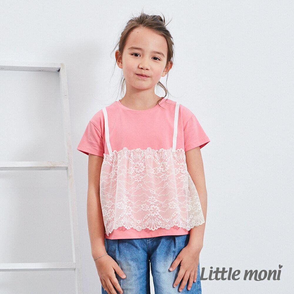 Little moni 蕾絲拼接上衣-玫瑰紅(好窩生活節) 0