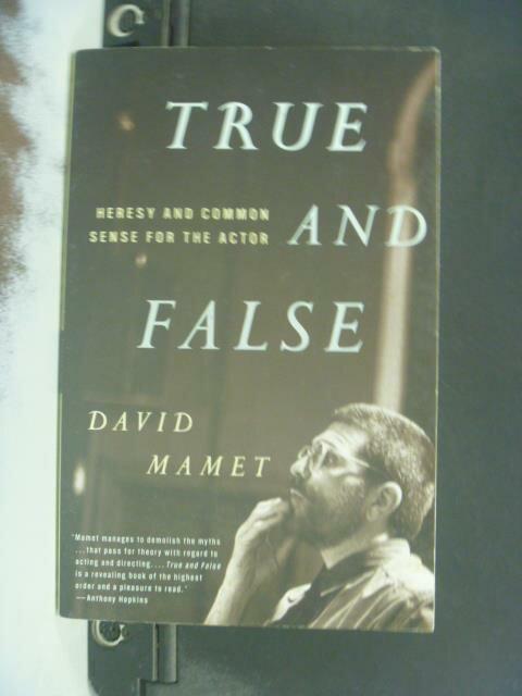~書寶 書T9/藝術_KEM~True and false_David Mamet.