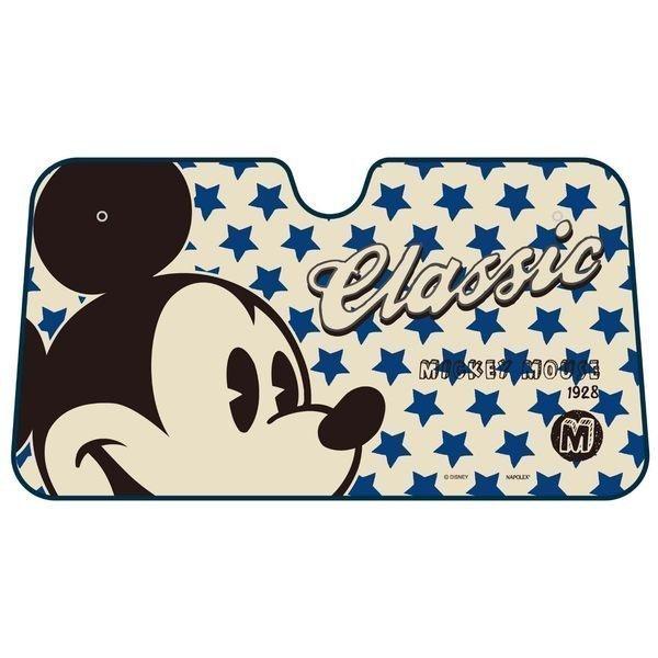 權世界@汽車用品 日本 NAPOLEX Disney 米奇 前擋遮陽板 簾 (L) WD-236